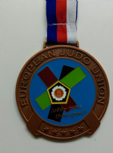 90mm Medal with Enamel